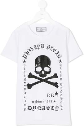 Philipp Plein Junior skull print T-shirt