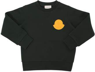 Moncler Logo Patch Cotton Jersey Sweatshirt