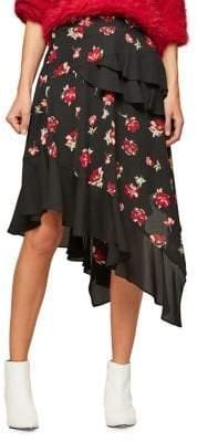 Miss Selfridge Floral Hanky Hem Skirt