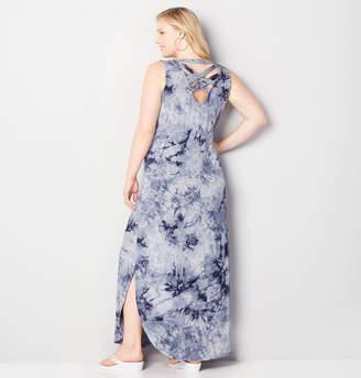 Avenue Tie Dye Criss Cross Maxi Dress