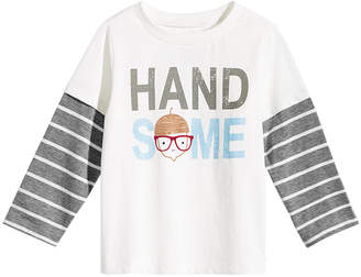 First Impressions Baby Boys Handsome-Print Layered-Look Cotton T-Shirt