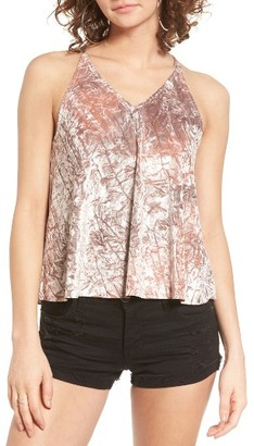 Women's Ten Sixty Sherman Oil Washed Velvet Tank $29 thestylecure.com