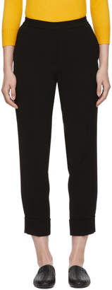 Bottega Veneta Black Crepe Cuffs Cropped Trousers