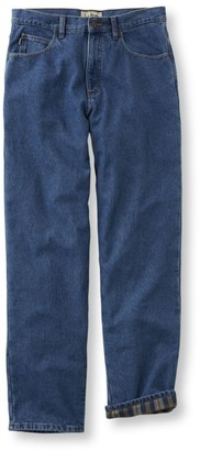 L.L. Bean L.L.Bean Men's Double LA Jeans, Flannel-Lined Relaxed Fit