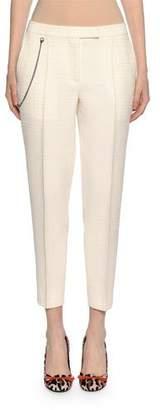 Bottega Veneta Pleated Ankle Pants with Pocket Chain