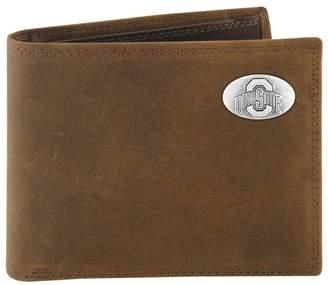 NCAA Kohl's Zep-Pro Ohio State Buckeyes Concho Crazy Horse Leather Bifold Wallet