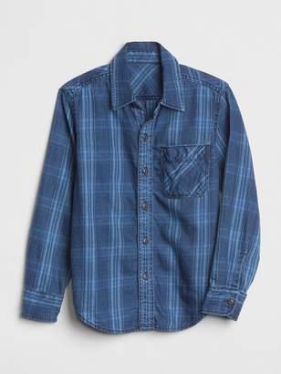 Gap Kids Plaid Long Sleeve Shirt