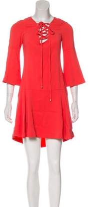 Rachel Zoe Pleat-Accented Knee-Length Dress w/ Tags