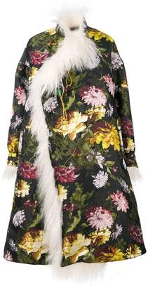 Preen by Thornton Bregazzi floral flared coat