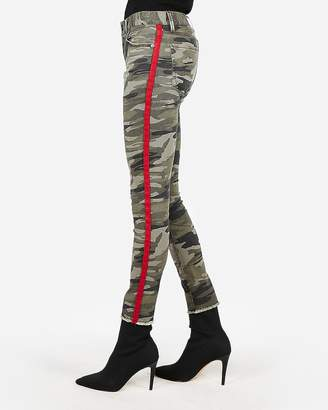 Express Mid Rise Camo Side Stripe Ankle Leggings
