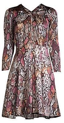 Rebecca Taylor Women's Python Print Silk Mini Dress