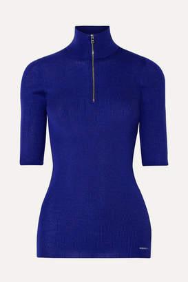 Prada Ribbed Wool-blend Sweater - Royal blue
