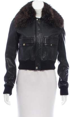 Givenchy Fur Trimmed Leather Jacket