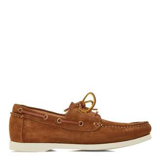 Tan Suede Boater Boat Shoes