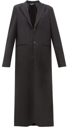 Edward Crutchley Maxi Length Single Breasted Wool Overcoat - Womens - Black