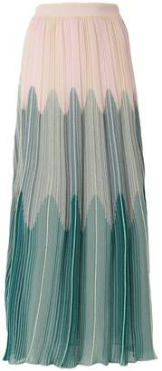M Missoni ombré-effect knitted maxi skirt