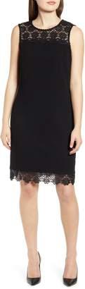 Karl Lagerfeld Paris Lace Detail Sleeveless Dress