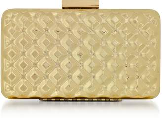 Love Moschino Evening Bag Metal Gold Clutch w/Chain