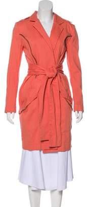 Preen Line Knee-Length Belted Coat