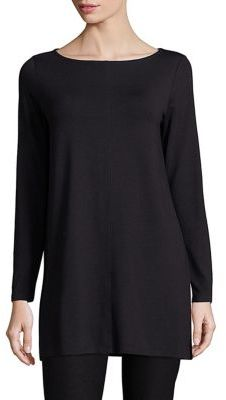 Eileen Fisher Boatneck Tunic $158 thestylecure.com