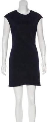 Kimberly Ovitz Textured Mini Dress Blue Textured Mini Dress