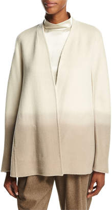 Lafayette 148 New York Kaye Oversized Collarless Ombre Jacket, Ecru Multi