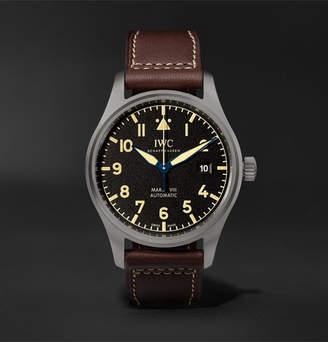IWC SCHAFFHAUSEN Pilot's Mark Xviii Heritage Titanium And Leather Watch