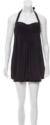 BCBGMAXAZRIA Mini Halter Dress