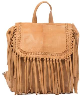 Day & Mood Anna Leather Fringe Backpack
