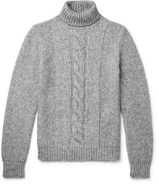 Tod's Cable-Knit Rollneck Sweater - Gray