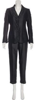 Giorgio Armani Wool-Blend Herringbone Pantsuit