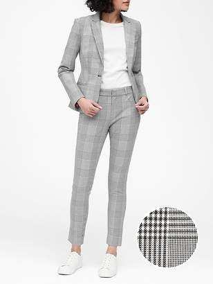 Banana Republic Petite Classic-Fit Plaid Washable Blazer