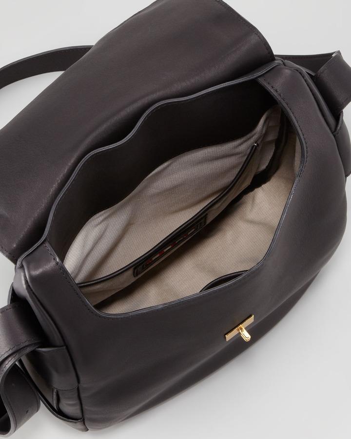 Marni Flap-Top Satchel Bag, Charcoal