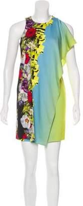 Versace Printed Overlay Dress
