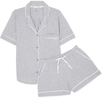 DKNY Signature Cotton-blend Jersey Pajamas - Light gray