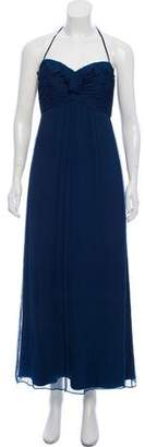 Amsale Silk Midi Dress