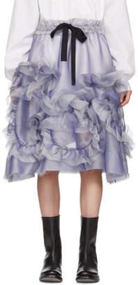 Roberts | Wood Purple Sheer Silk Ruffle Skirt