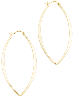Jules Smith Gamma Hoop Earrings $50 thestylecure.com