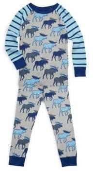Hatley Toddler's, Little Boy's & Boy's Two-Piece Moose Cotton Pajama Set