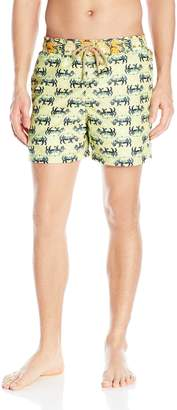 Maaji Men's Chartreuse Rhinoes Swim Trunk