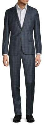 Paul Smith Woven Wool Two-Piece Plaid Suit