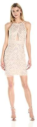 Aidan Mattox Women's Beaded Cocktail Dress with Cut Out