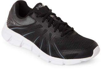 Fila Black & Dark Shadow Memory Fraction Running Sneakers