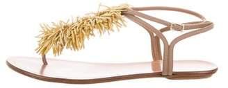 Aquazzura Fringe Leather Sandals