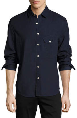 Joe's Jeans Men's Nep Woven Sport Shirt, Blue