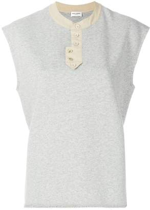 Saint Laurent sleeveless sweatshirt