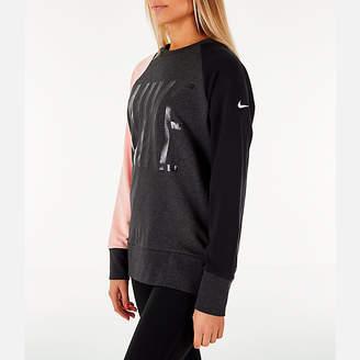 Nike Women's Dry Colorblock Crew Sweatshirt