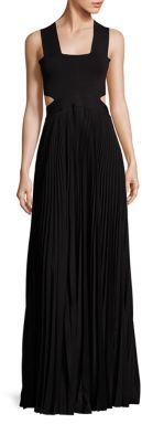 A.L.C. A.L.C. Accordion Pleated Cutout Gown
