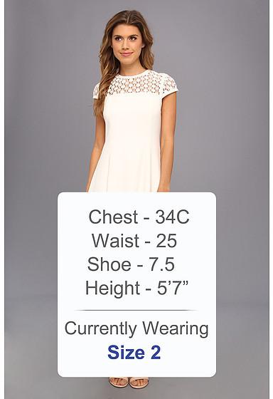 Calvin Klein Aline w/ Crichet S/L Top Dress