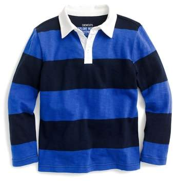 crewcuts by J.Crew Striped Rugby Shirt